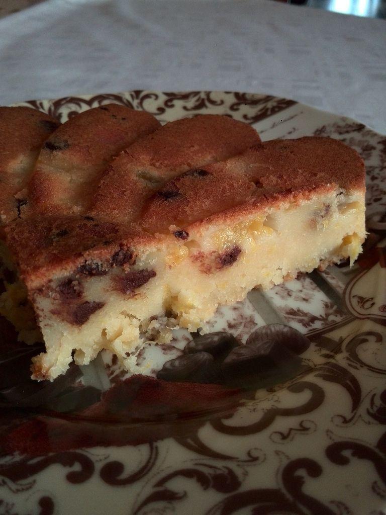 Gâteau moelleux ananas chocolat