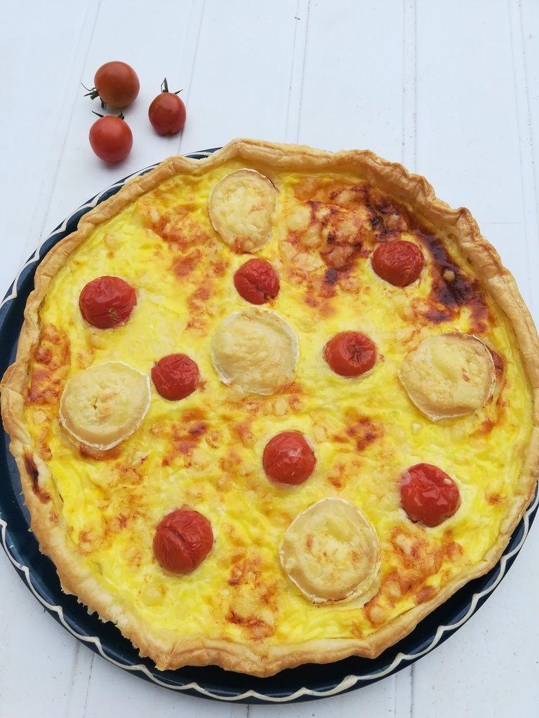 tarte aux 3 fromages et tomates cerises