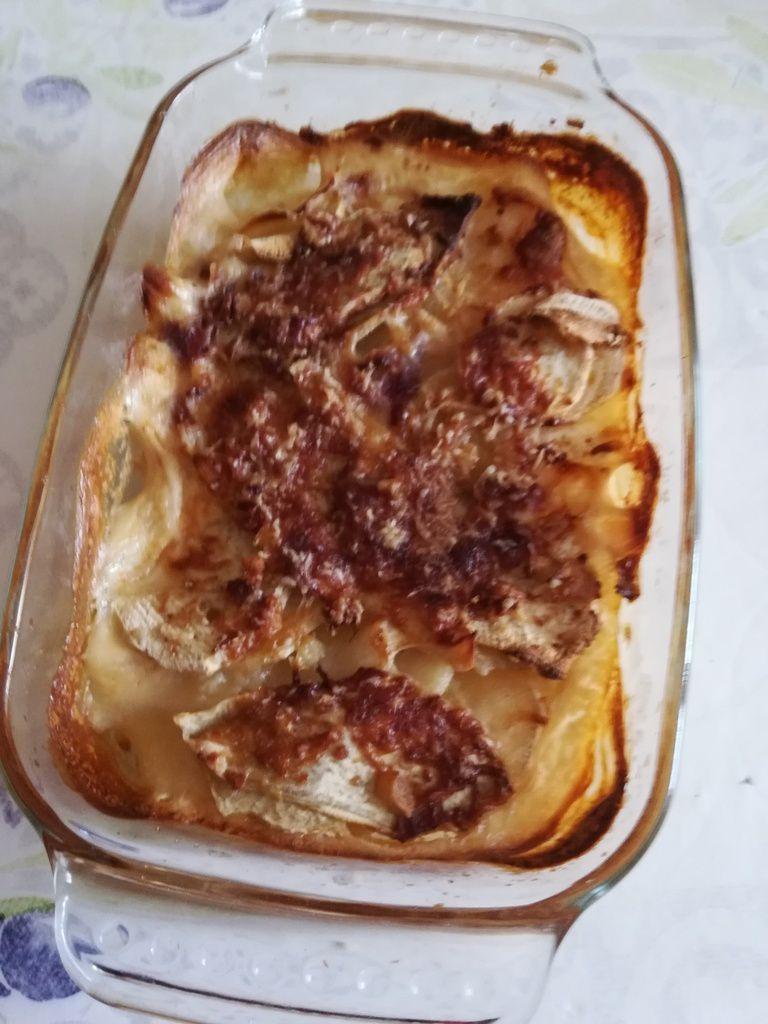 Gratin de patates douces et pommes de terre