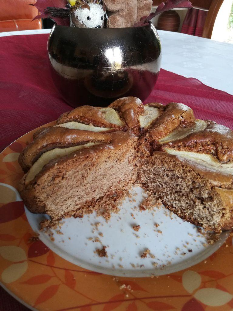 gâteau aux poires et farine de châtaignes