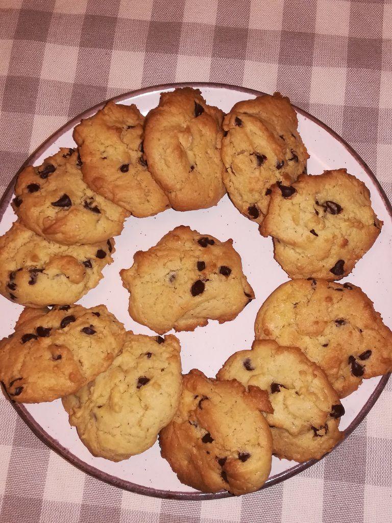 cookies au chocolat au jaunes d'oeufs