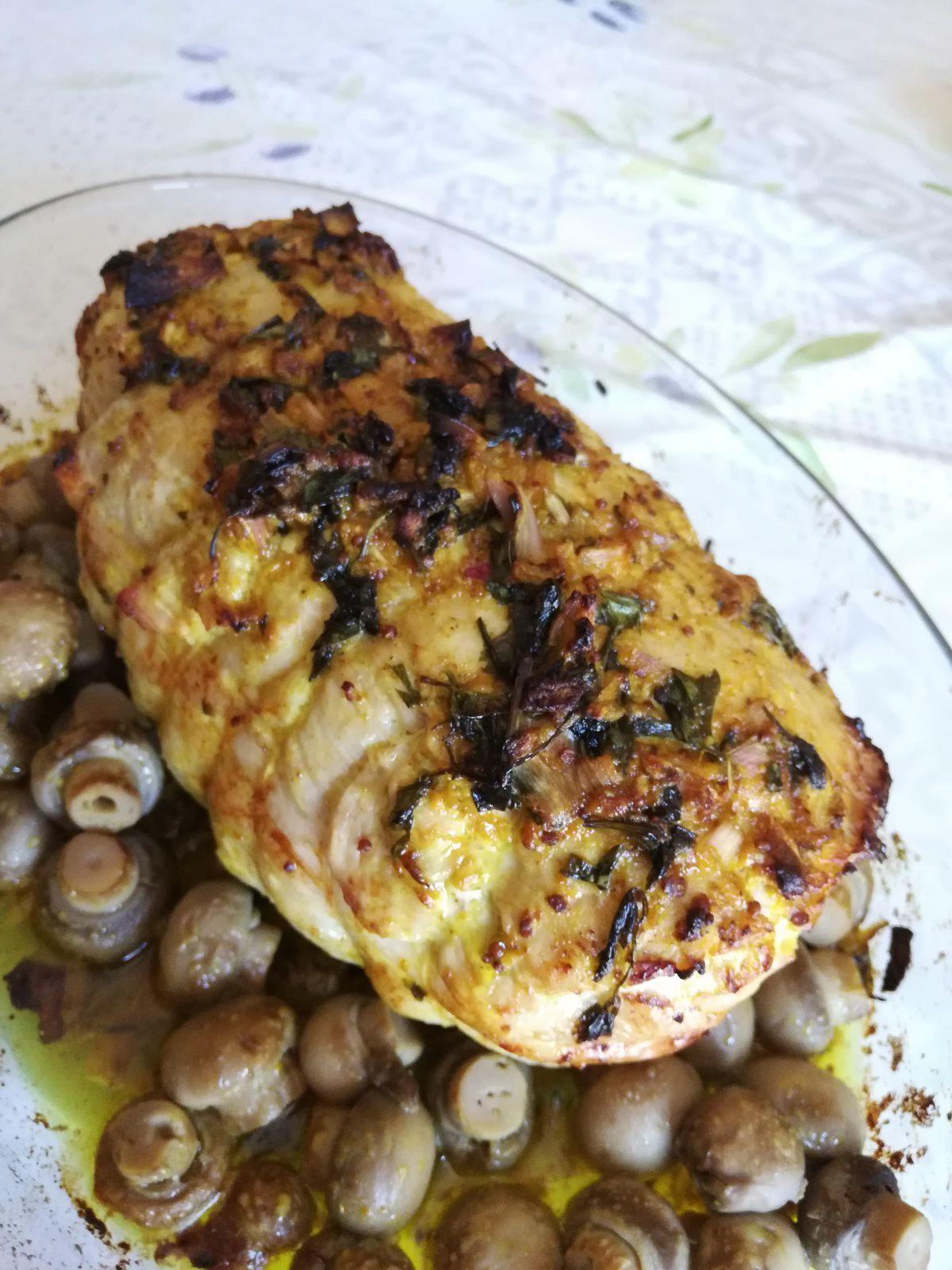 rôti de dinde à la marocaine au four