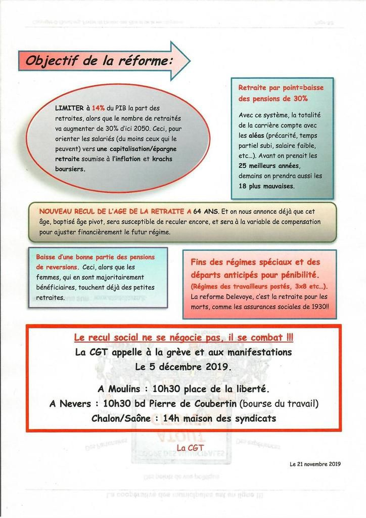5 DEC : LIEU ET HEURE DES MANIFS :