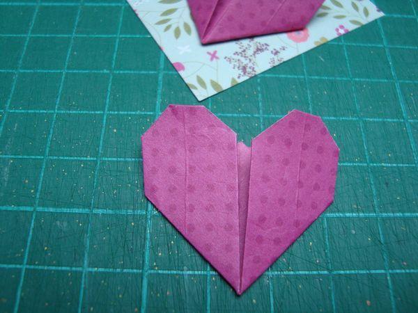 Coeur en origami