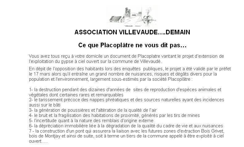 Villevaudé Carrière/décharge Placoplatre exploitée à l'explosif : pour protéger votre environnement l'association Villevaudé Demain a besoin de votre aide