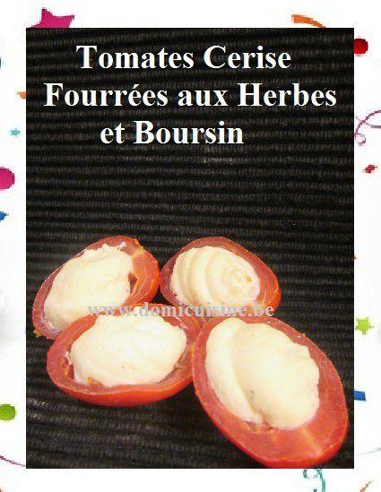 Tomates Cerise Fourrées aux Herbes et Boursin ...