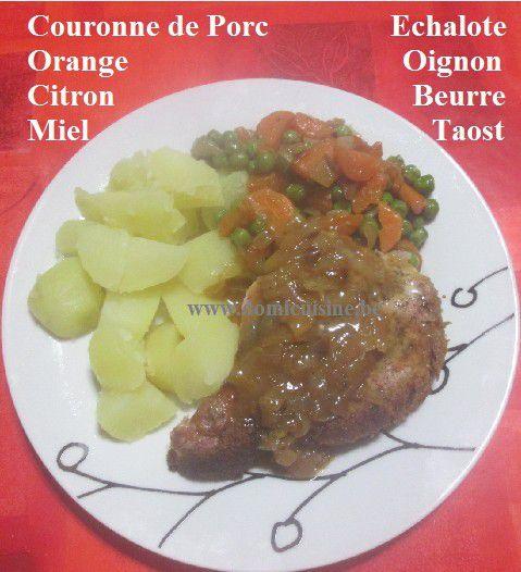 Couronne de Porc en Croûte d'Agrume, Sauce au Miel ...