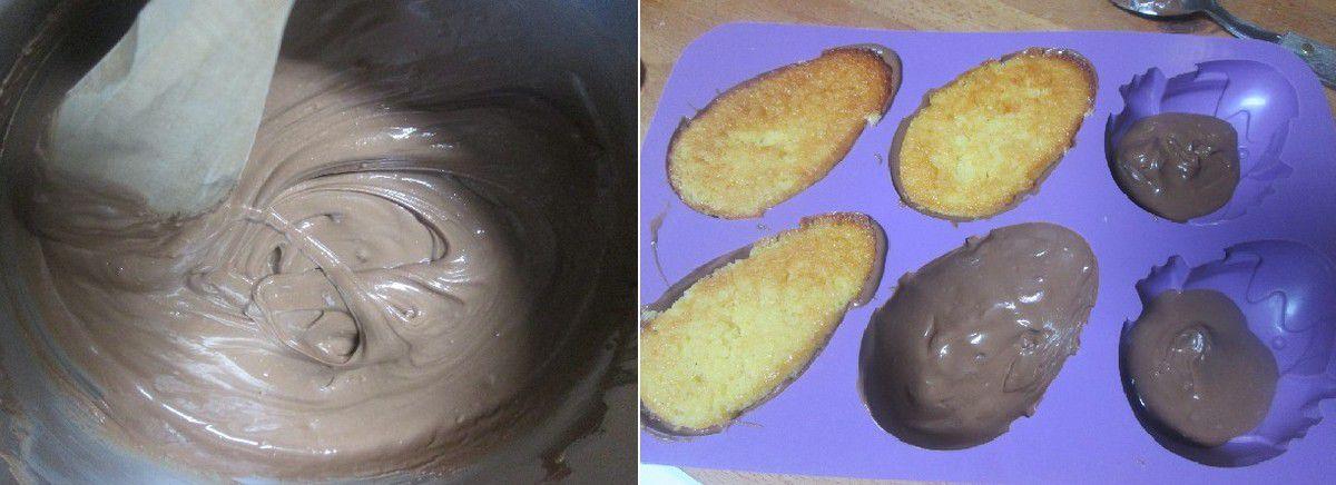 Pâques: Gâteaux Citron / Amandes en Coque de Chocolat ...