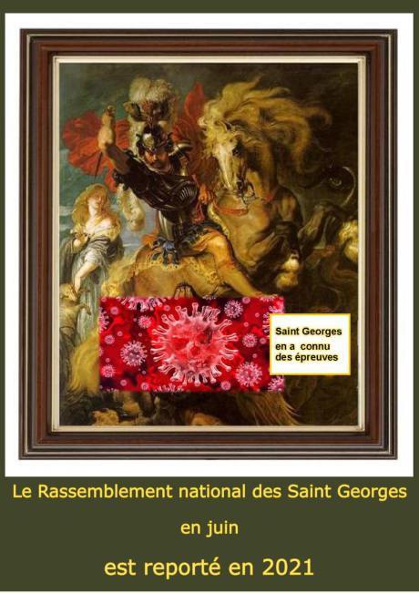 Annulation rassemblement national des St Georges de France  2020.
