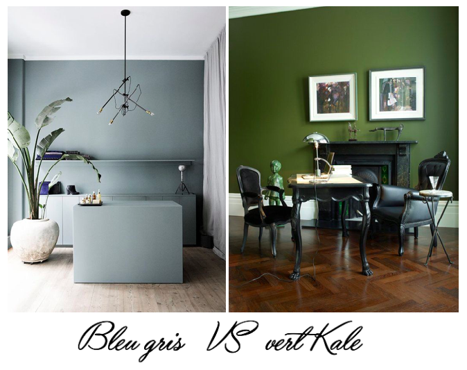 match d co bleu gris vs vert kale a part a. Black Bedroom Furniture Sets. Home Design Ideas