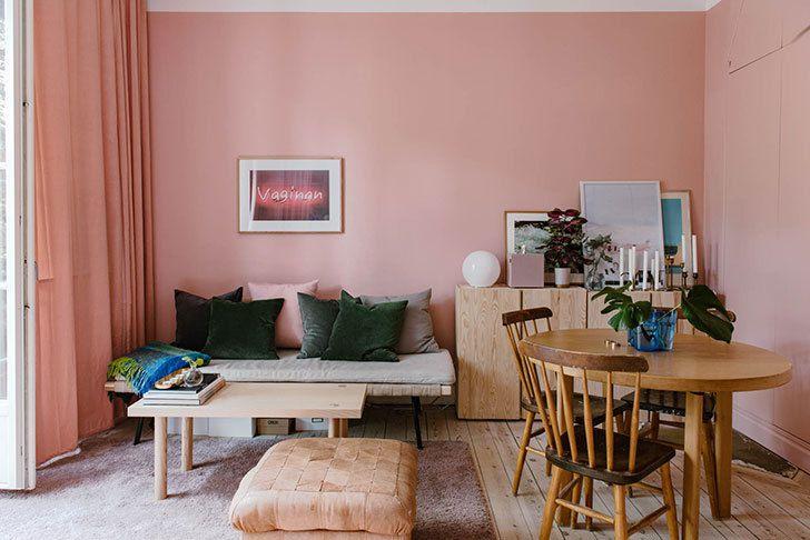 Un appartement petit, rose et optimisé
