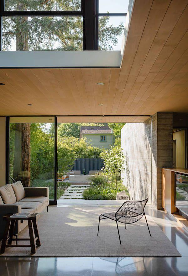 Une maison d'architecte bois et béton