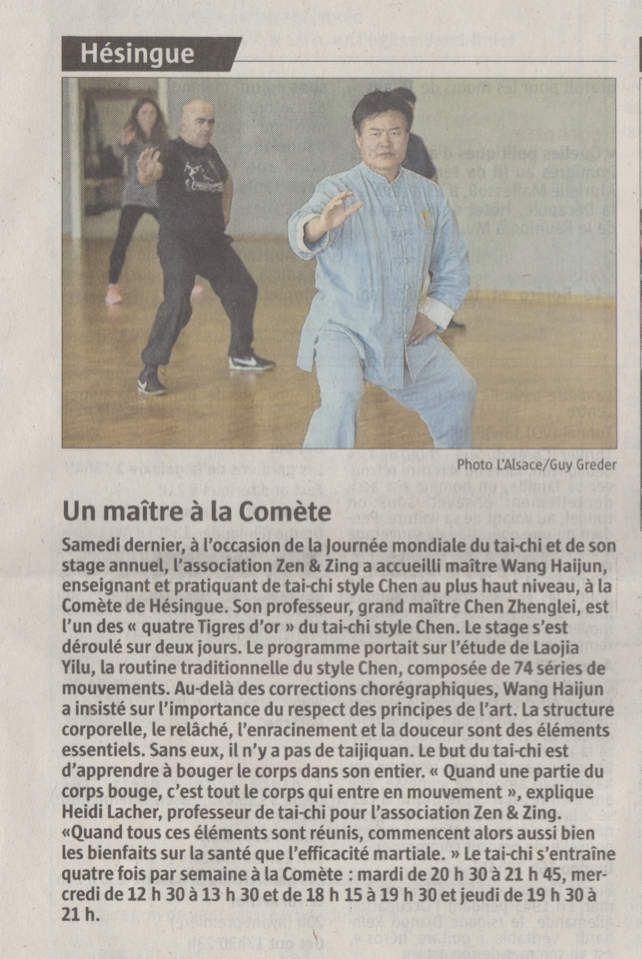 Article du journal L'Alsace du 12 mai 2017