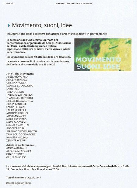 Exposition 2015 à MODENA en Italie