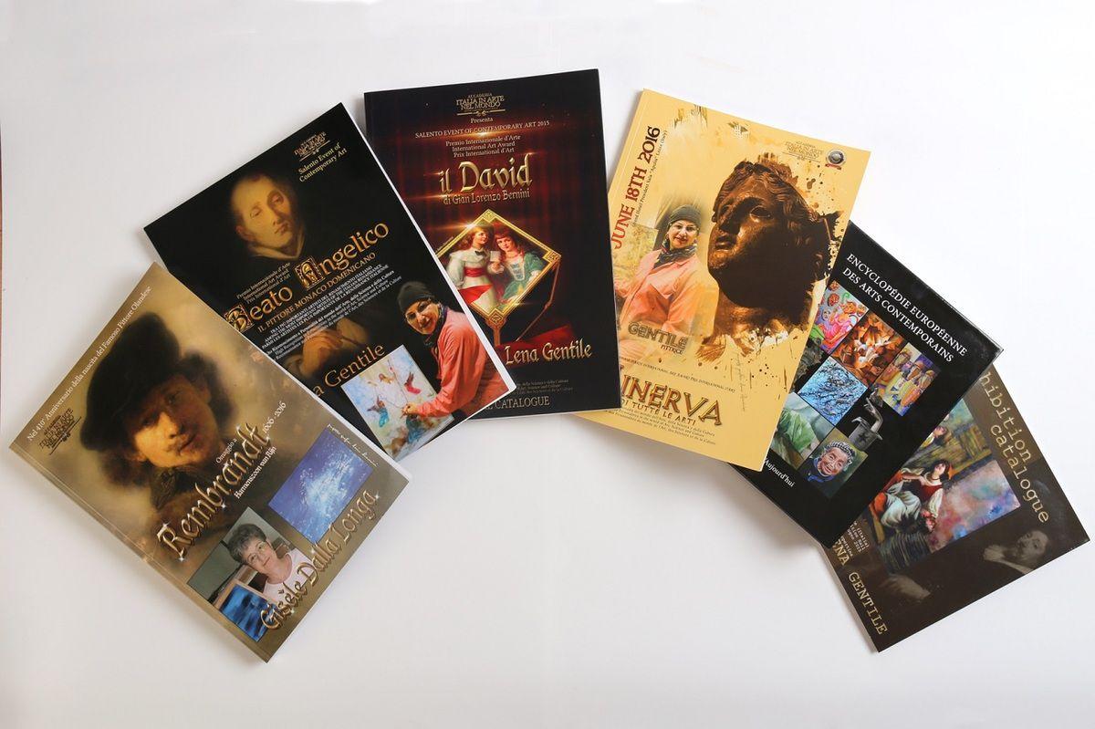 """Catalogues International d'Art, Catalogue International d'Art """" REMBRANDT"""" personnalisé Encyclopédie Européenne des Arts Contemporains Gisèle Dalla Longa"""
