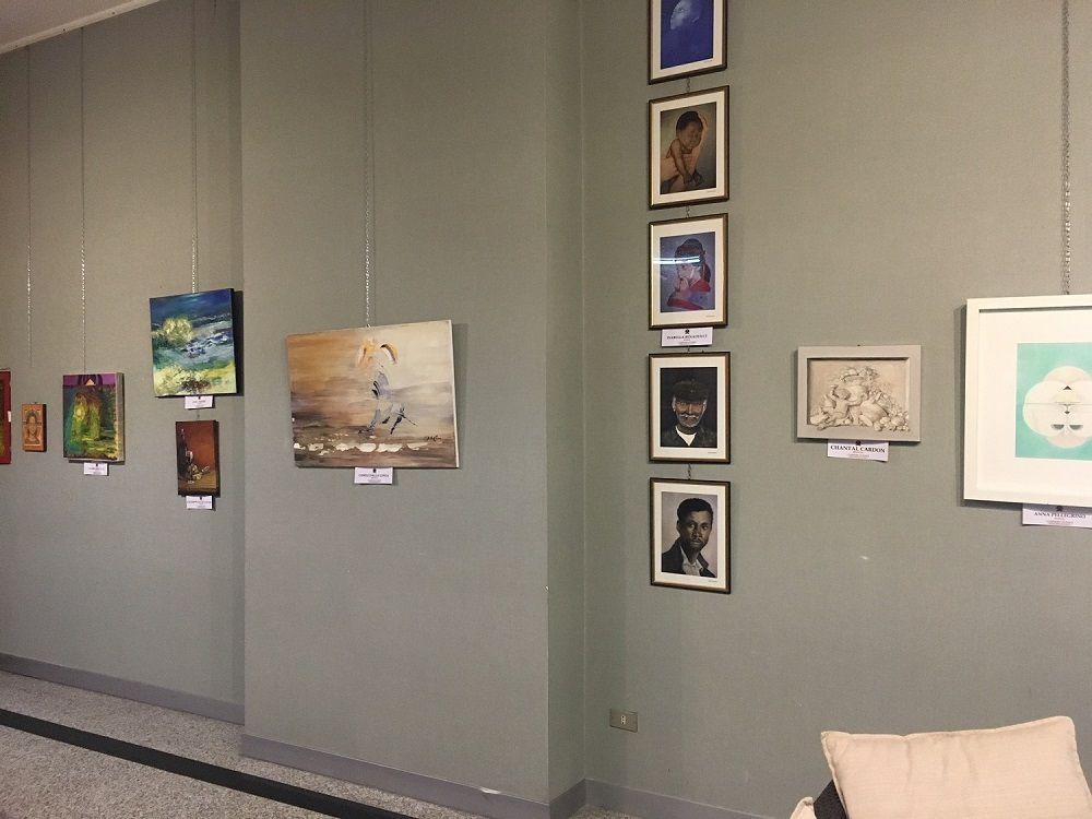 """Exposition Internationale à Lecce Italie """"Sans Titre"""" (Mère...) Mixte 2017 Oeuvre de Gisèle Dalla Longa"""