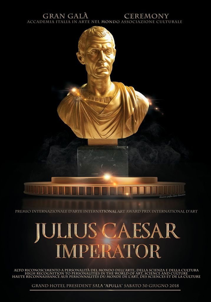 Prix International d'Art 2018 Julius Caesar Participation à Exposition Internationale