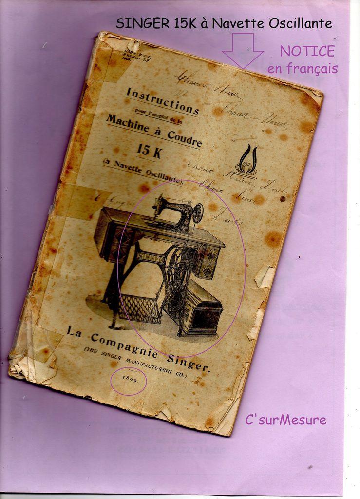 livret de la compagnie SINGER, French/1899.