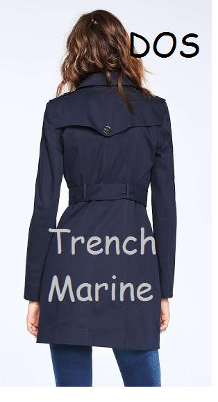 le Trench Marine de dos !