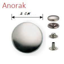 pièces du bouton pression Anorak veste.