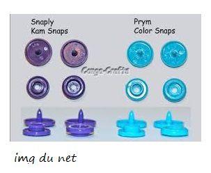 différence entre la color snaps et  la Kam : on peux donc poser aussi les pressions de la marque KAM avec ces pinces.