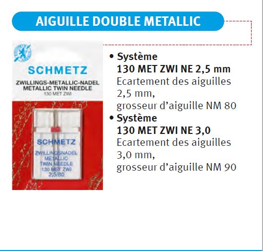 Aiguille double Metalic