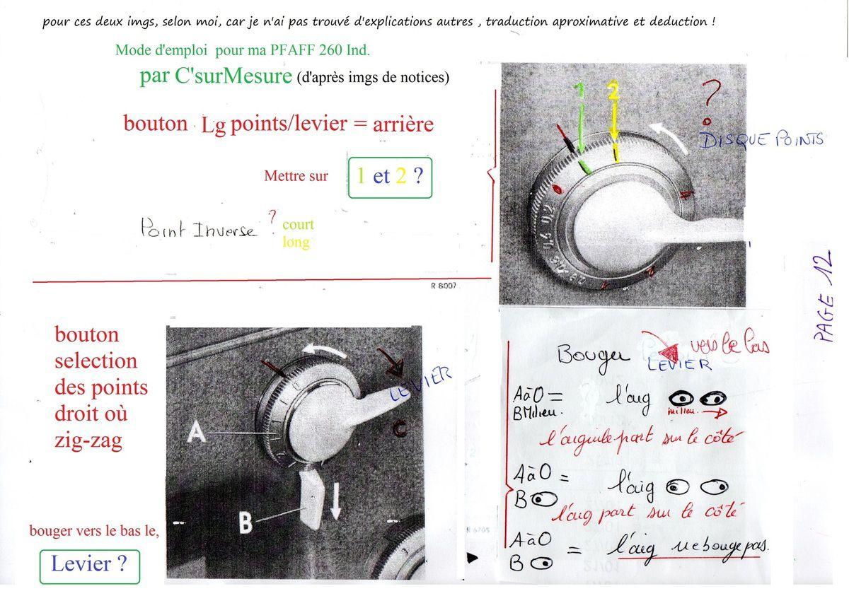 Page 12 point inversé et levier qui bouge l'aiguille vers la droite ?