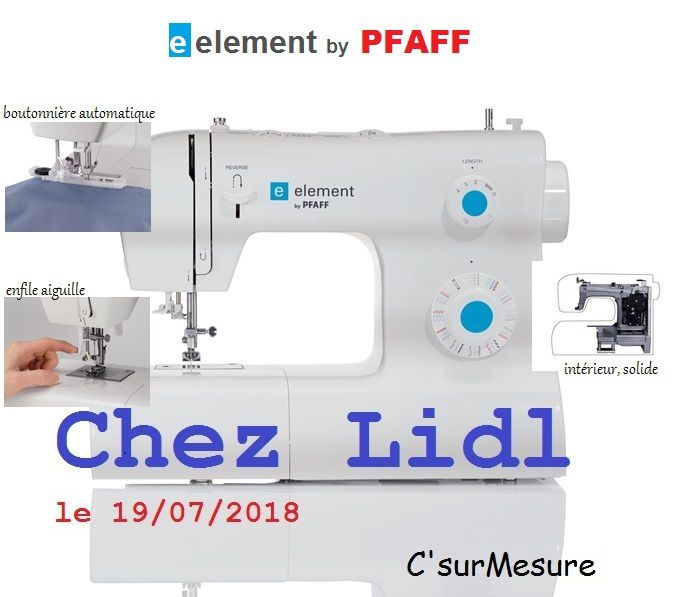 La e element by PFAFF  ref: ... à  99£ , en magasin à partir du 19/07/2018.