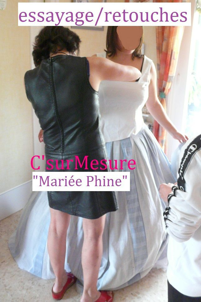 tuto 10 : Mariée Phine, retouches Patronnage.