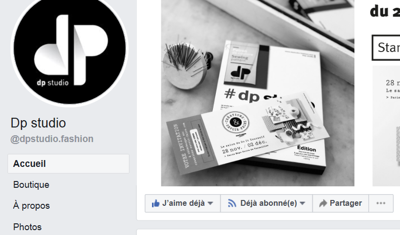 DP studio : facebook DP,  des Patrons DP et une Methode DP en 3 tomes..., un Site DP !