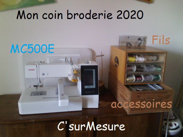 Mon coin broderie :