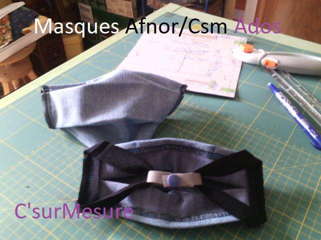Masques : Afnor/csm pour Ados