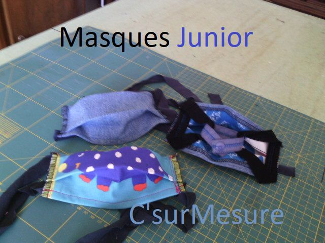 divers masques junior Afnor/Csm