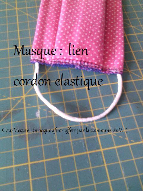 Masques : liens et bandes confort !