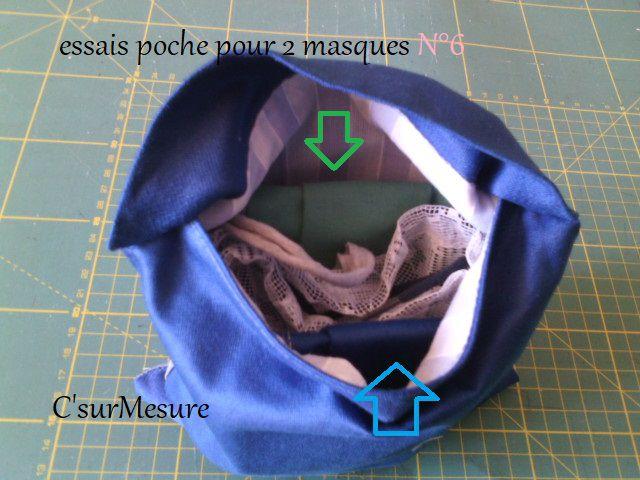 Diy : Poche 2 Masques CsM, présentation.