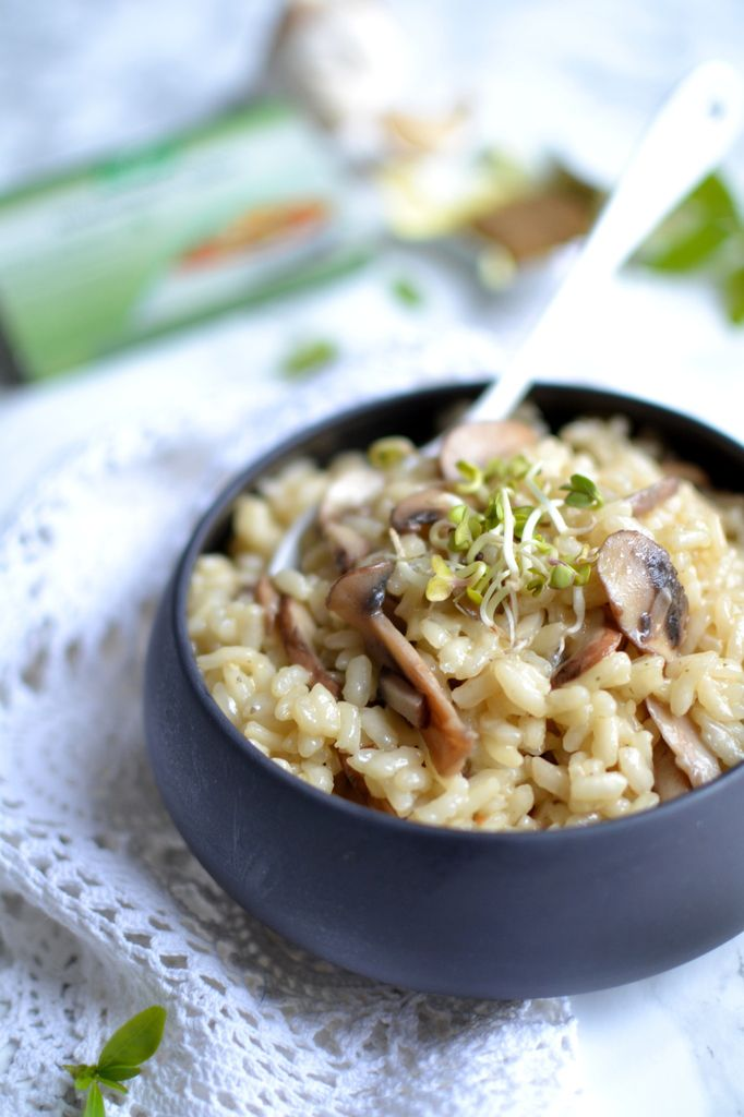 risotto cr meux aux champignons et bouillon de l gumes les recettes de juliette. Black Bedroom Furniture Sets. Home Design Ideas