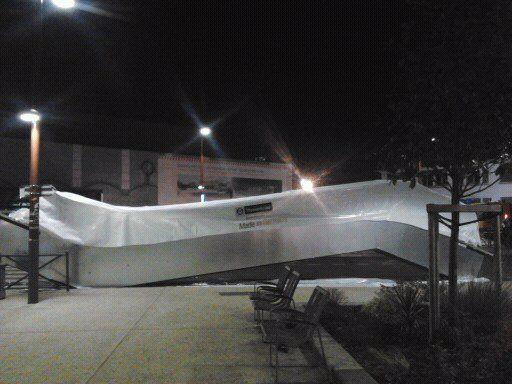 L'escalator nouveau est arrivé à la gare d'Aulnay-sous-Bois !