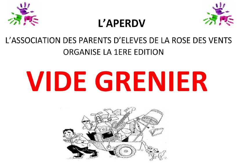 Vide grenier des parents d'élèves de la Rose des Vents le 16 mai 2015 à Aulnay-sous-Bois
