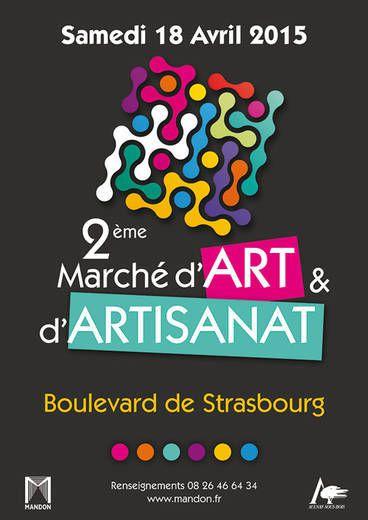 2ième marché de l'art et d'artisanat ce 18 avril 2015 à Aulnay-sous-Bois