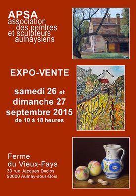 Aulnay-sous-Bois : expo-vente de l'Association des Peintres et Sculpteurs Aulnaysiens ce week-end à la Ferme du Vieux-Pays