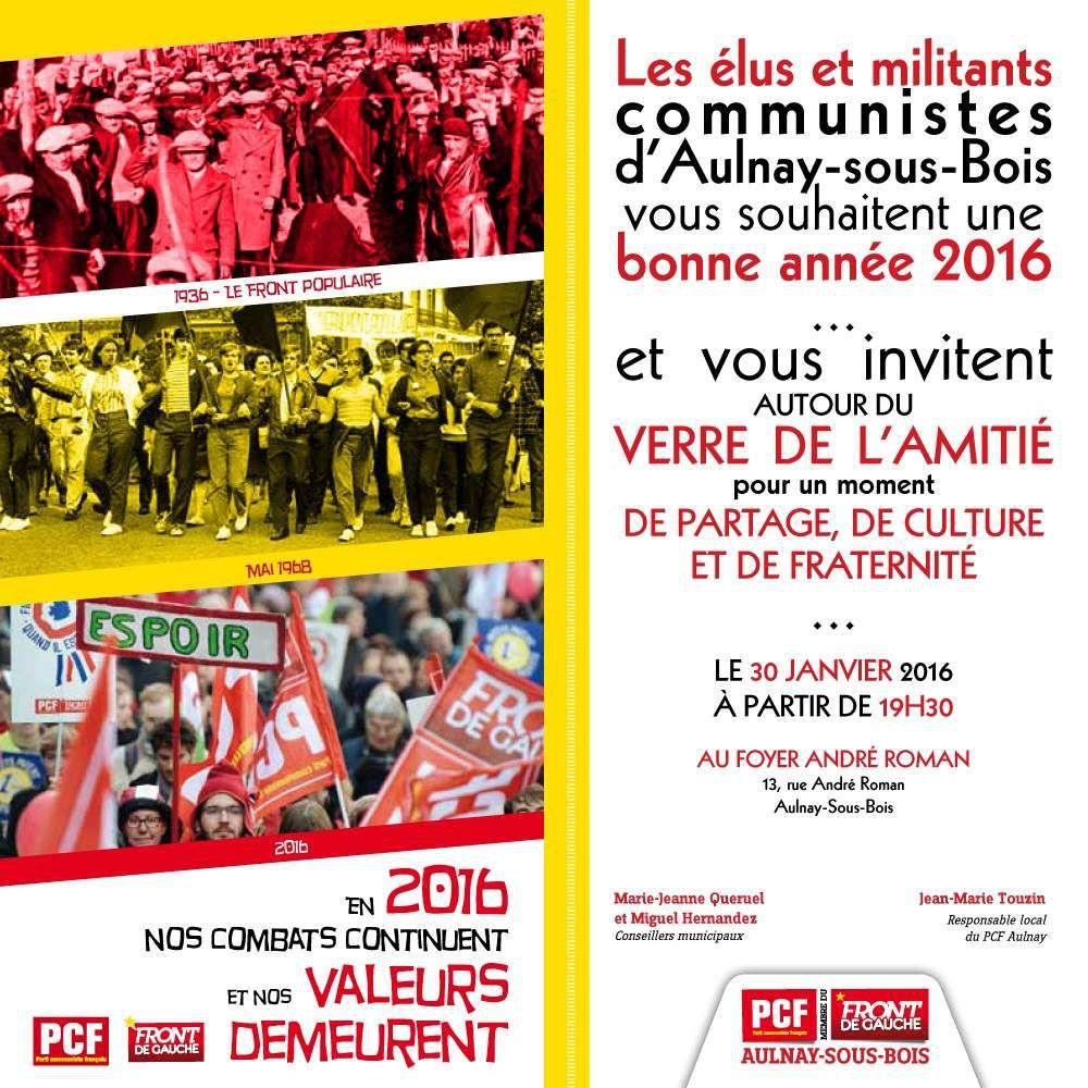 Vœux 2016 des élus et militants communistes d'Aulnay-sous-Bois