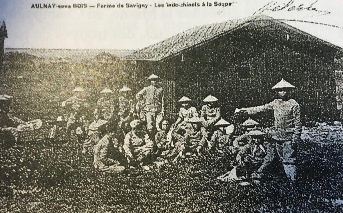 Aulnay-sous-Bois pendant la guerre 14-18 (5) : 1917, des soldats Indochinois à la Ferme de Savigny