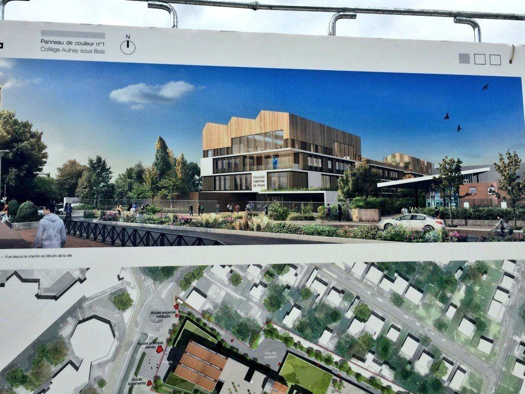 La reconstruction du collège Christine de Pisan à Aulnay-sous-Bois est en marche