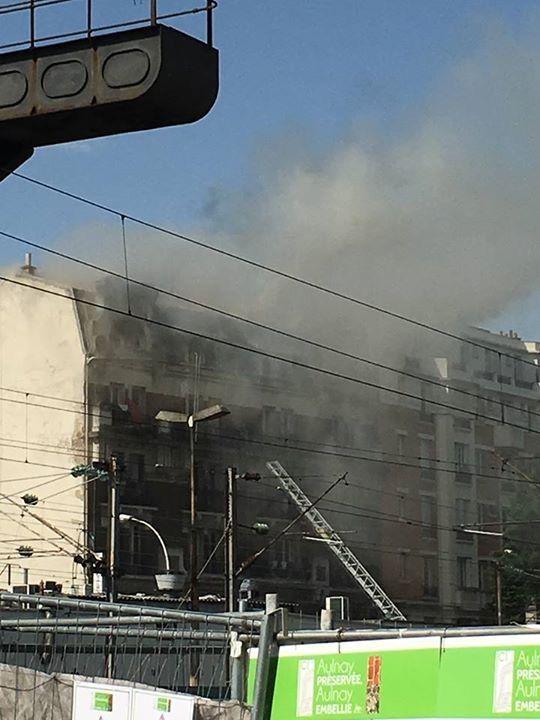 Deux blessés graves dans un incendie à Aulnay-sous-Bois