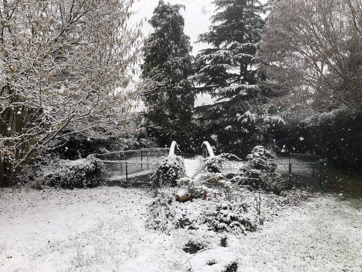 Première neige de 2018 à Aulnay-sous-Bois