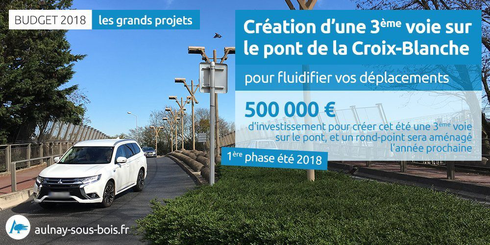 500 000 euros d'investissement pour améliorer la circulation sur le pont de la Croix-Blanche à Aulnay-sous-Bois