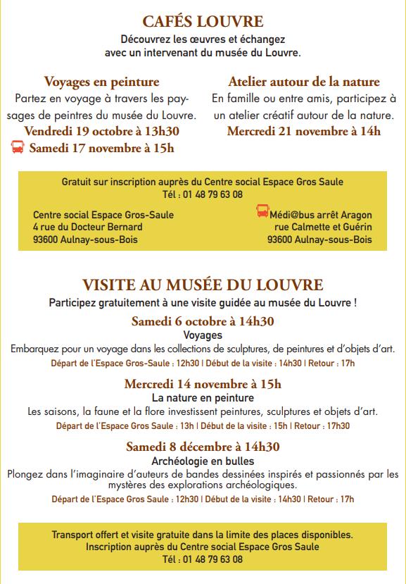 Le musée du Louvre s'invite à Aulnay-sous-Bois !