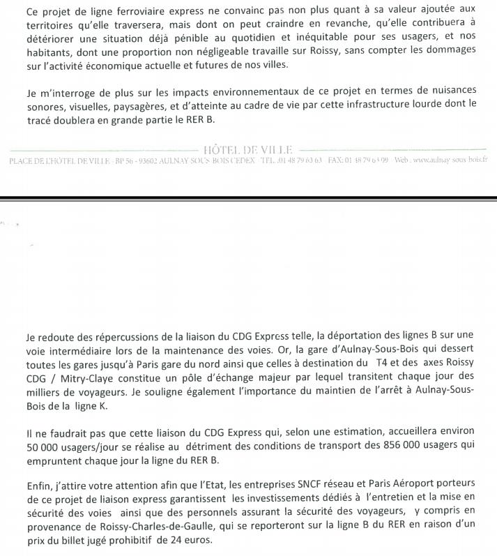 Le maire d'Aulnay-sous-Bois Bruno Beschizza n'a jamais été en faveur du CDG Express