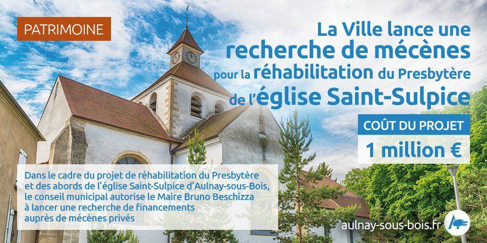 Projet de réhabilitation du Presbytère et des abords de l'église Saint-Sulpice à Aulnay-sous-Bois