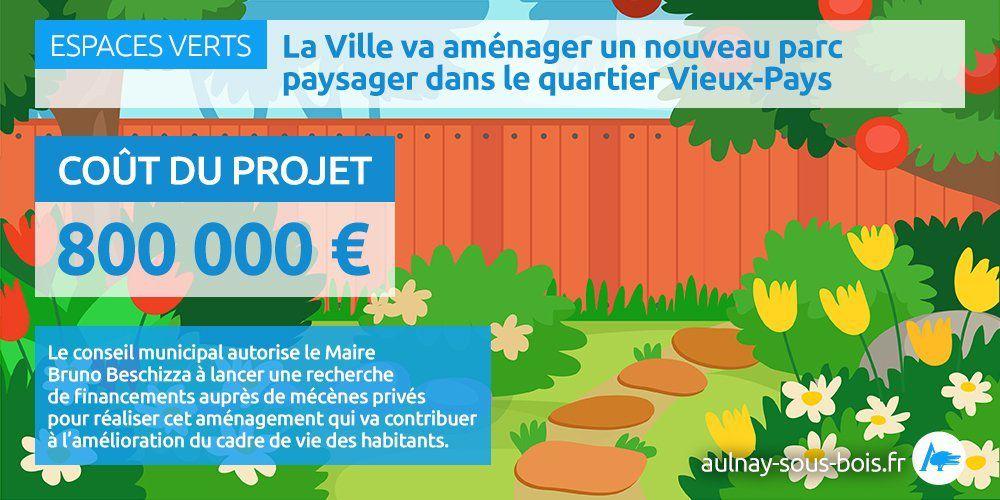 Création d'un nouvel espace vert au 75 rue Jules Princet à Aulnay-sous-Bois